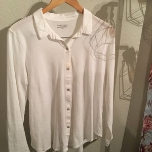 EILEEN FISHER button down blouse